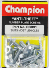 number plate security screws